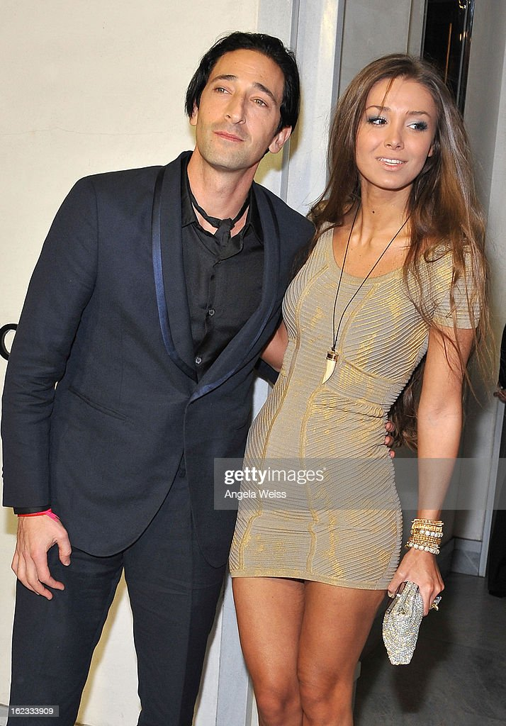 Actor <a gi-track='captionPersonalityLinkClicked' href=/galleries/search?phrase=Adrien+Brody&family=editorial&specificpeople=202175 ng-click='$event.stopPropagation()'>Adrien Brody</a> and girlfriend Lara Lieto attend Tom Ford's cocktail event in support of Project Angel Food at TOM FORD on February 21, 2013 in Beverly Hills, California.