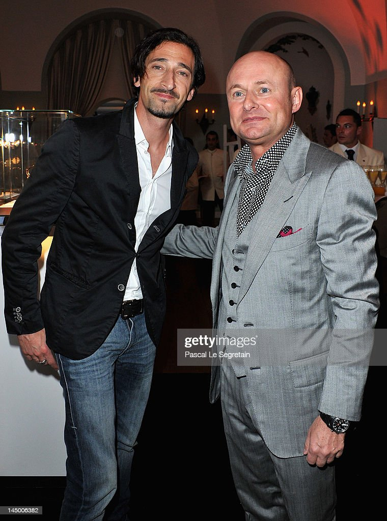 Actor <a gi-track='captionPersonalityLinkClicked' href=/galleries/search?phrase=Adrien+Brody&family=editorial&specificpeople=202175 ng-click='$event.stopPropagation()'>Adrien Brody</a> and IWC CEO Georges Kern attends the exclusive Filmmakers Dinner during the Cannes International Film Festival hosted by Swiss watch manufacturer IWC Schaffhausen in partnership with Finch's Quarterly Review at the famous Hotel du Cap-Eden-Roc on May 21, 2012 in Cap d'Antibes, France.