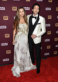 Actor Adrien Brody and Lara Leito arrive at the 21st Century Fox and Fox Searchlight Oscar Party at BOA Steakhouse on February 22 2015 in West...