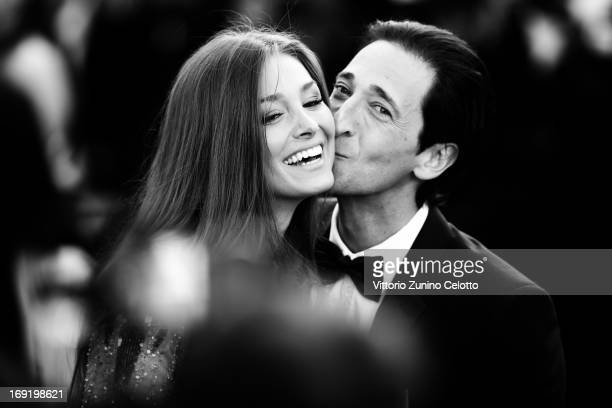 Actor Adrien Brody and Lara Leito attend the Premiere of 'Cleopatra' during the 66th Annual Cannes Film Festival on May 21 2013 in Cannes France