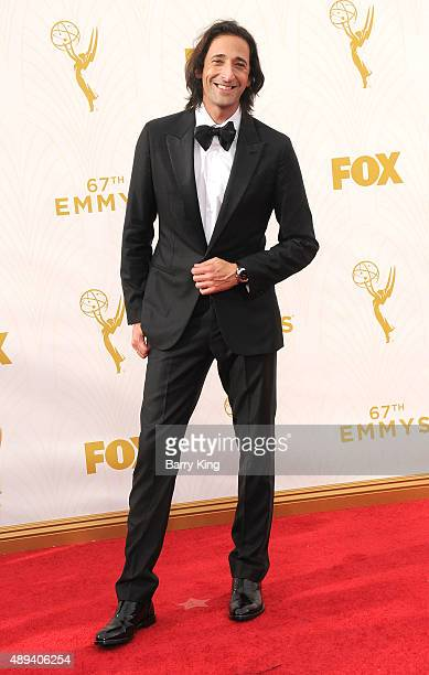 Actor Adrien Brody arrives at the 67th Annual Primetime Emmy Awards at the Microsoft Theater on September 20 2015 in Los Angeles California