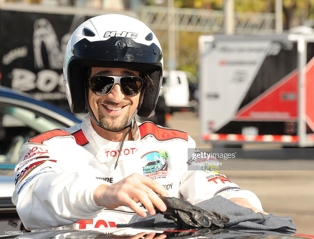 Actor <a gi-track='captionPersonalityLinkClicked' href=/galleries/search?phrase=Adrien+Brody&family=editorial&specificpeople=202175 ng-click='$event.stopPropagation()'>Adrien Brody</a> at the 36th Annual 2012 Toyota Pro/Celebrity Race - Press Practice Day on April 3, 2012 in Long Beach, California.
