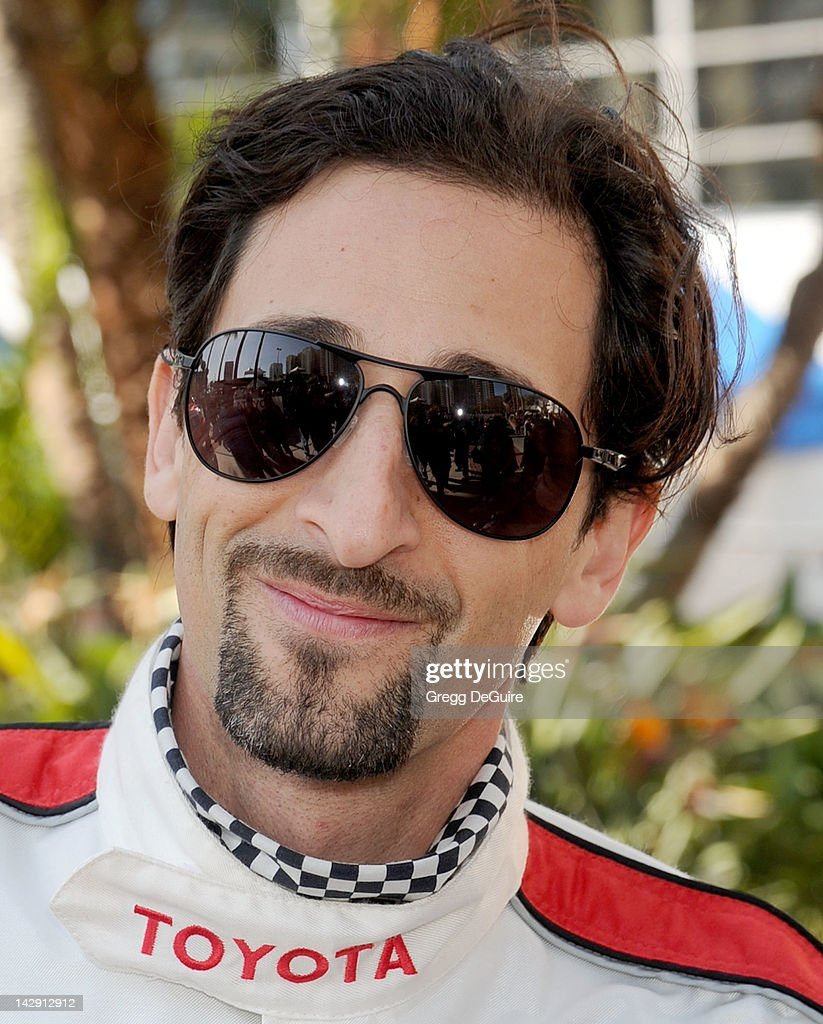 Actor Adrien Brody at the 36th Annual 2012 Toyota Pro/Celebrity Race on April 14, 2012 in Long Beach, California.