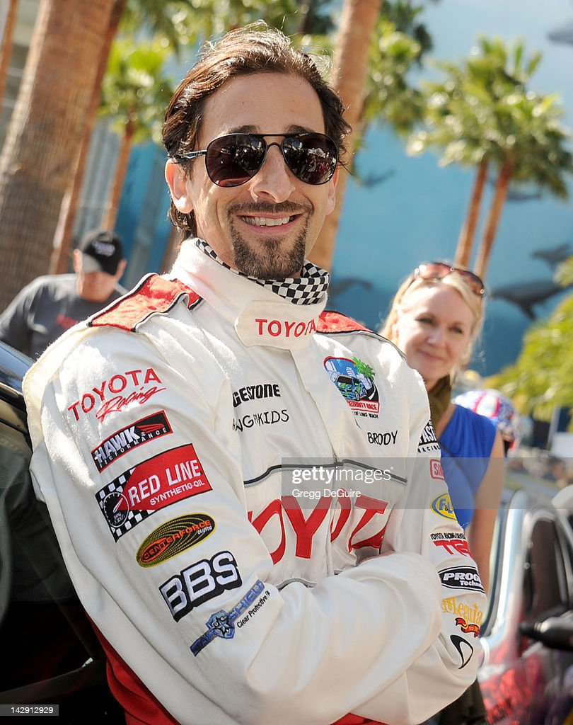 Actor <a gi-track='captionPersonalityLinkClicked' href=/galleries/search?phrase=Adrien+Brody&family=editorial&specificpeople=202175 ng-click='$event.stopPropagation()'>Adrien Brody</a> at the 36th Annual 2012 Toyota Pro/Celebrity Race on April 14, 2012 in Long Beach, California.