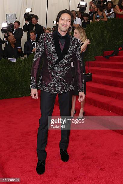 Actor Adrien Brody attends 'China Through the Looking Glass' the 2015 Costume Institute Gala at Metropolitan Museum of Art on May 4 2015 in New York...