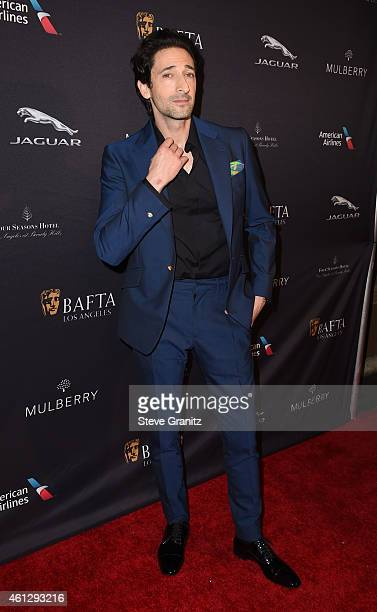 Actor Adrien Brody attends the 2015 BAFTA Tea Party at The Four Seasons Hotel on January 10 2015 in Beverly Hills California