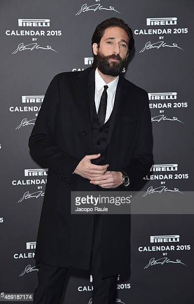 Actor Adrien Brody attends the 2015 Pirelli Calendar Red Carpet on November 18 2014 in Milan Italy