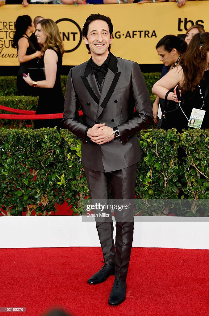 Actor <a gi-track='captionPersonalityLinkClicked' href=/galleries/search?phrase=Adrien+Brody&family=editorial&specificpeople=202175 ng-click='$event.stopPropagation()'>Adrien Brody</a> attends the 21st Annual Screen Actors Guild Awards at The Shrine Auditorium on January 25, 2015 in Los Angeles, California.