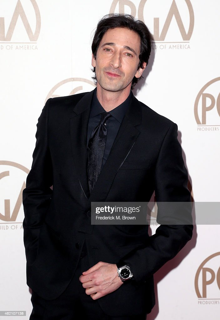 Actor Adrien Brody attends the 26th Annual Producers Guild Of America Awards at the Hyatt Regency Century Plaza on January 24, 2015 in Los Angeles, California.