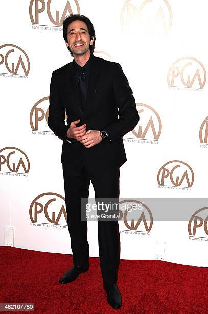 Actor Adrien Brody attends the 26th Annual Producers Guild Of America Awards at the Hyatt Regency Century Plaza on January 24 2015 in Los Angeles...