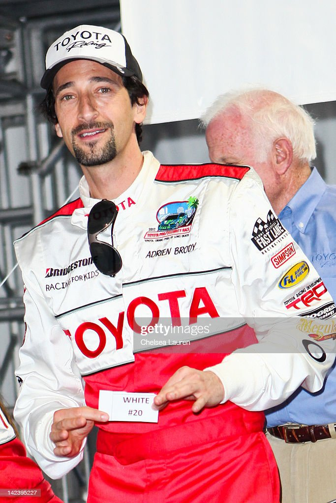 Actor <a gi-track='captionPersonalityLinkClicked' href=/galleries/search?phrase=Adrien+Brody&family=editorial&specificpeople=202175 ng-click='$event.stopPropagation()'>Adrien Brody</a> attends the 36th annual Toyota pro/celebrity race press day on April 3, 2012 in Long Beach, California.