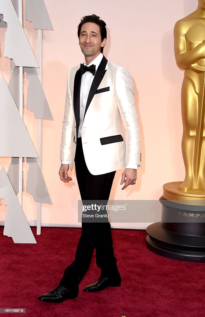 Actor Adrien Brody attends the 87th Annual Academy Awards at Hollywood & Highland Center on February 22, 2015 in Hollywood, California.