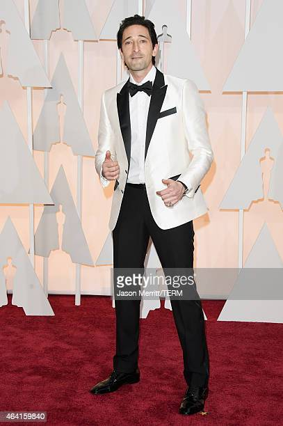 Actor Adrien Brody attends the 87th Annual Academy Awards at Hollywood Highland Center on February 22 2015 in Hollywood California