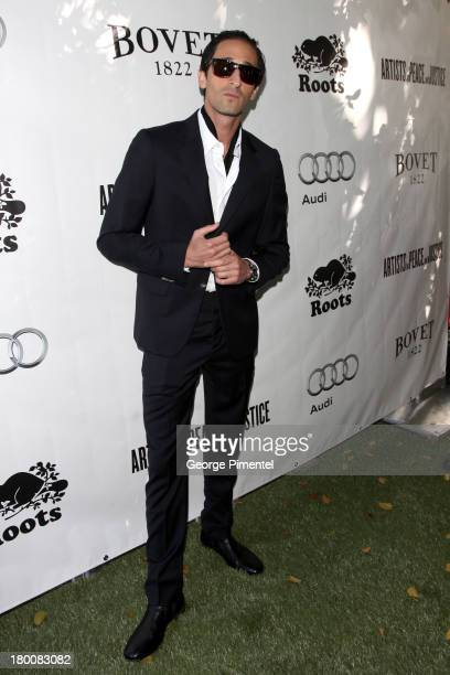 Actor Adrien Brody attends the Artists For Peace And Justice Brunch during the 2013 Toronto International Film Festival at on September 8 2013 in...