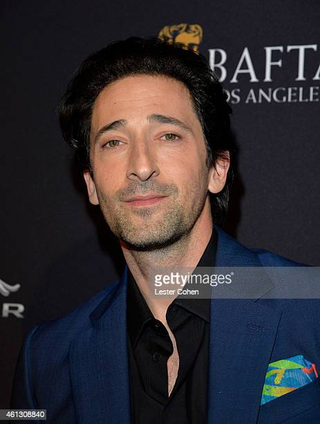 Actor Adrien Brody attends the BAFTA Los Angeles Tea Party at Four Seasons Hotel Los Angeles at Beverly Hills on January 10 2015 in Los Angeles...
