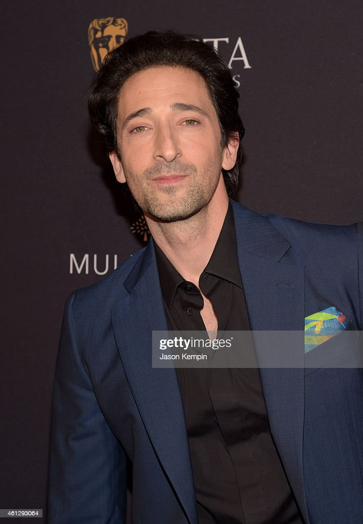Actor <a gi-track='captionPersonalityLinkClicked' href=/galleries/search?phrase=Adrien+Brody&family=editorial&specificpeople=202175 ng-click='$event.stopPropagation()'>Adrien Brody</a> attends the BAFTA Los Angeles Tea Party at The Four Seasons Hotel Los Angeles At Beverly Hills on January 10, 2015 in Los Angeles, California.