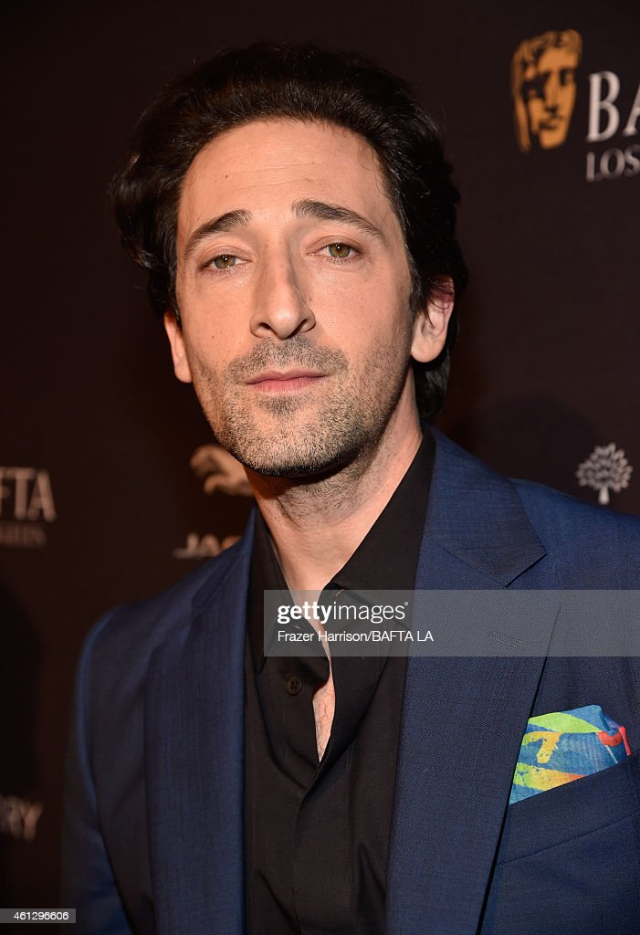 Actor <a gi-track='captionPersonalityLinkClicked' href=/galleries/search?phrase=Adrien+Brody&family=editorial&specificpeople=202175 ng-click='$event.stopPropagation()'>Adrien Brody</a> attends the BAFTA Los Angeles Tea Party at The Four Seasons Hotel Los Angeles At Beverly Hills on January 10, 2015 in Beverly Hills, California.