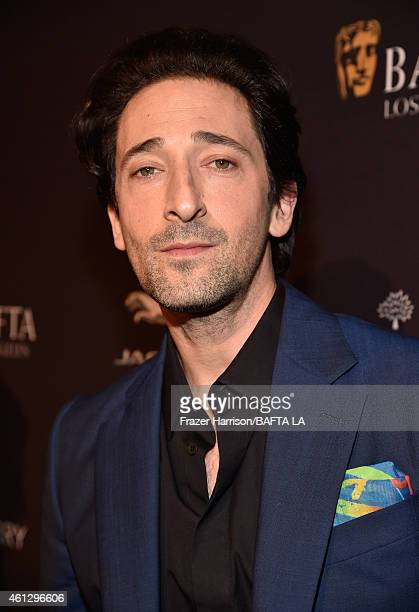 Actor Adrien Brody attends the BAFTA Los Angeles Tea Party at The Four Seasons Hotel Los Angeles At Beverly Hills on January 10 2015 in Beverly Hills...
