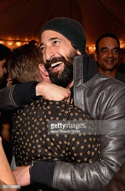 Actor Adrien Brody attends the Brian Bowen Smith WILDLIFE show hosted by Casamigos Tequila at De Re Gallery on October 23 2014 in West Hollywood...