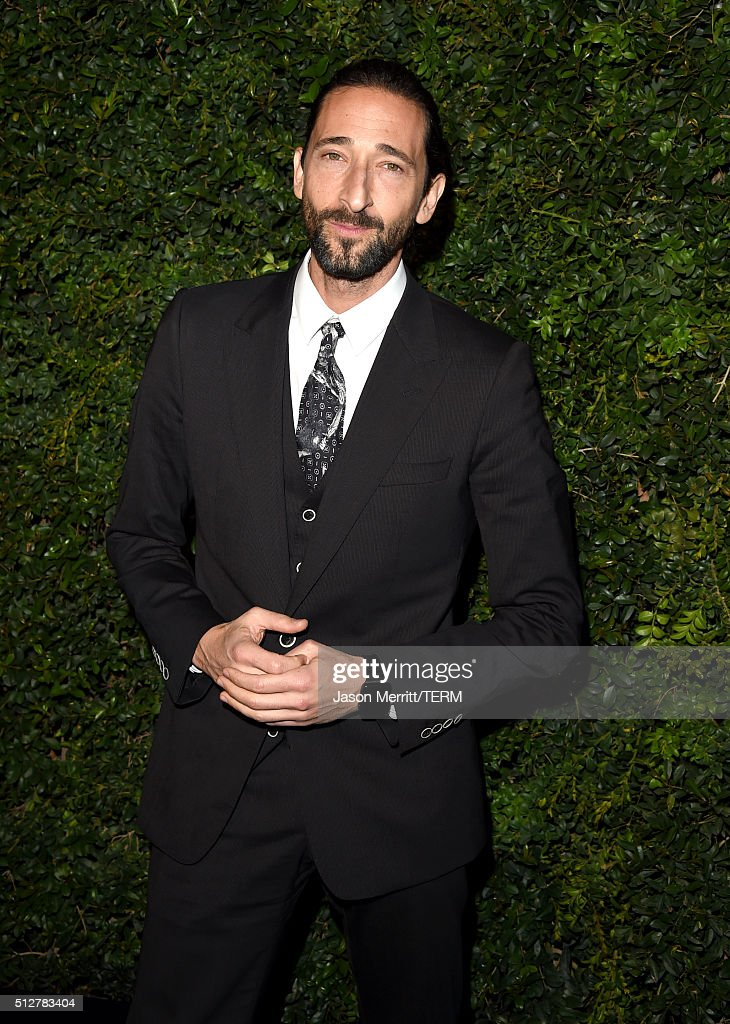 Actor <a gi-track='captionPersonalityLinkClicked' href=/galleries/search?phrase=Adrien+Brody&family=editorial&specificpeople=202175 ng-click='$event.stopPropagation()'>Adrien Brody</a> attends the Charles Finch and Chanel Pre-Oscar Awards Dinner at Madeo Restaurant on February 27, 2016 in Los Angeles, California.