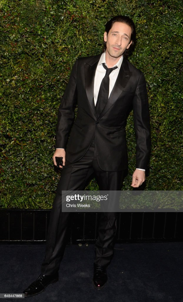 Actor Adrien Brody attends the Charles Finch and CHANEL Pre-Oscar Awards Dinner at Madeo Restaurant on February 25, 2017 in Beverly Hills, California.