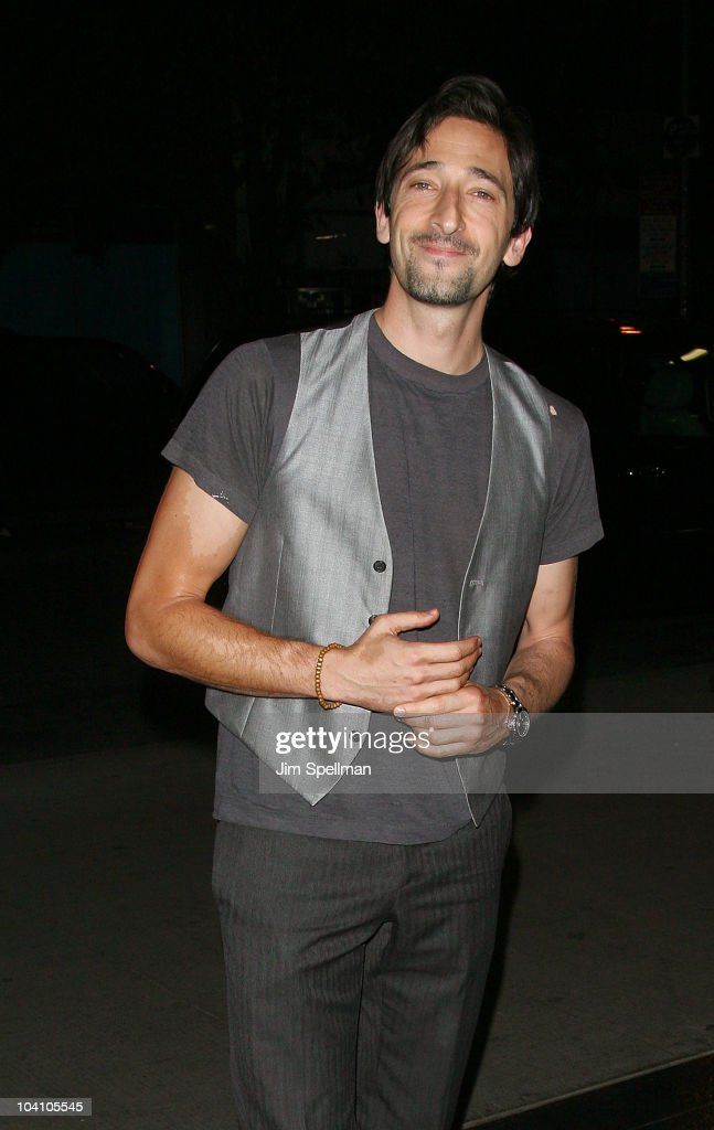 Actor Adrien Brody attends the Cinema Society and BlackBerry Torch screening of 'You Will Meet a Tall Dark Stranger' at MOMA on September 14 2010 in...