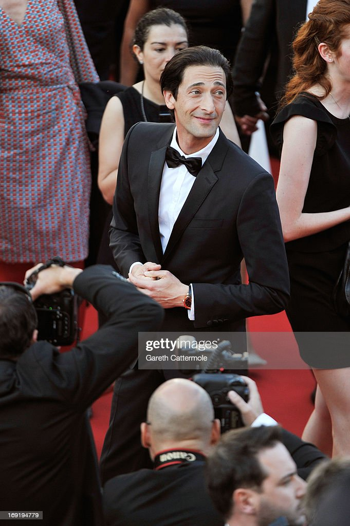 Actor Adrien Brody attends the 'Cleopatra' premiere during The 66th Annual Cannes Film Festival at The 60th Anniversary Theatre on May 21, 2013 in Cannes, France.