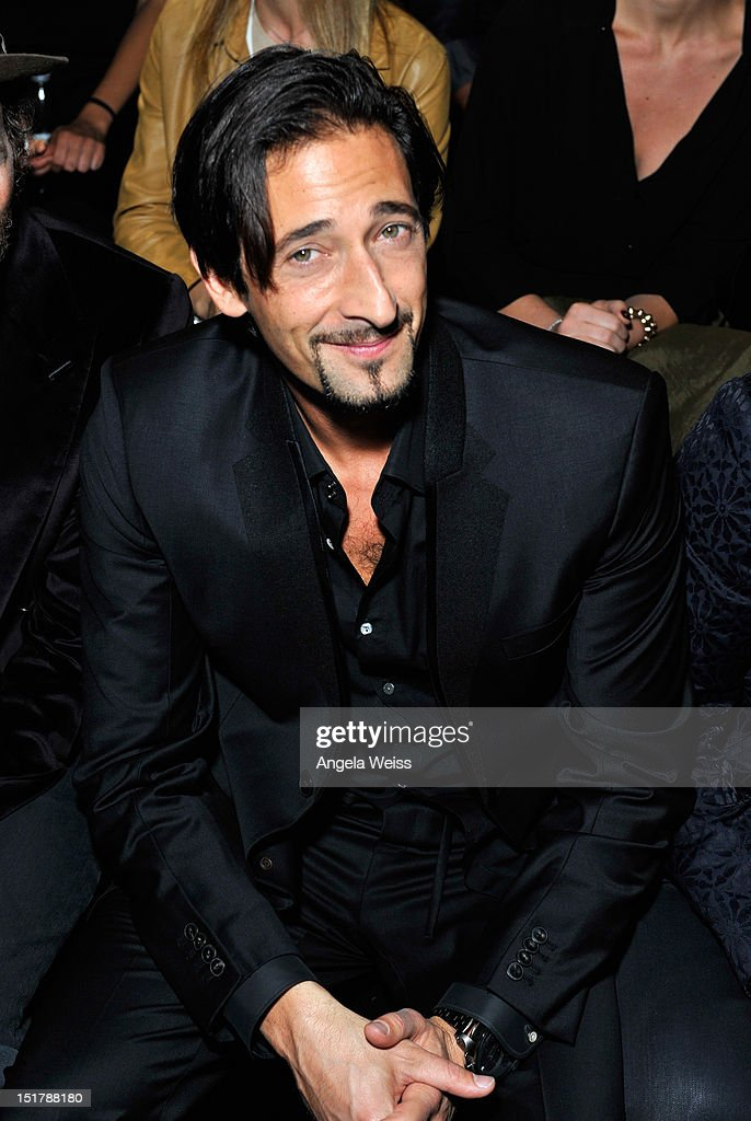 Actor <a gi-track='captionPersonalityLinkClicked' href=/galleries/search?phrase=Adrien+Brody&family=editorial&specificpeople=202175 ng-click='$event.stopPropagation()'>Adrien Brody</a> attends the Diesel Black Gold Runway Show during the Spring 2013 Mercedes-Benz Fashion Week on September 11, 2012 in New York City.