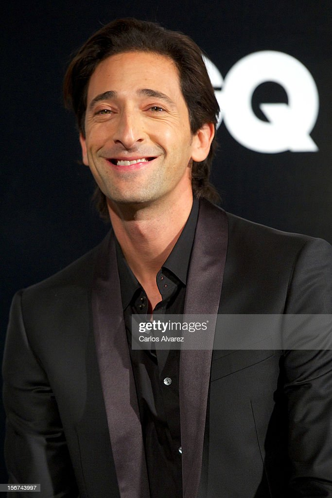 Actor <a gi-track='captionPersonalityLinkClicked' href=/galleries/search?phrase=Adrien+Brody&family=editorial&specificpeople=202175 ng-click='$event.stopPropagation()'>Adrien Brody</a> attends the GQ Men Of The Year award 2012 at the Ritz Hotel on November 19, 2012 in Madrid, Spain.
