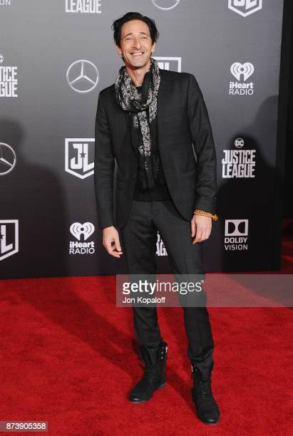 Actor Adrien Brody attends the Los Angeles Premiere of Warner Bros Pictures' 'Justice League' at Dolby Theatre on November 13 2017 in Hollywood...