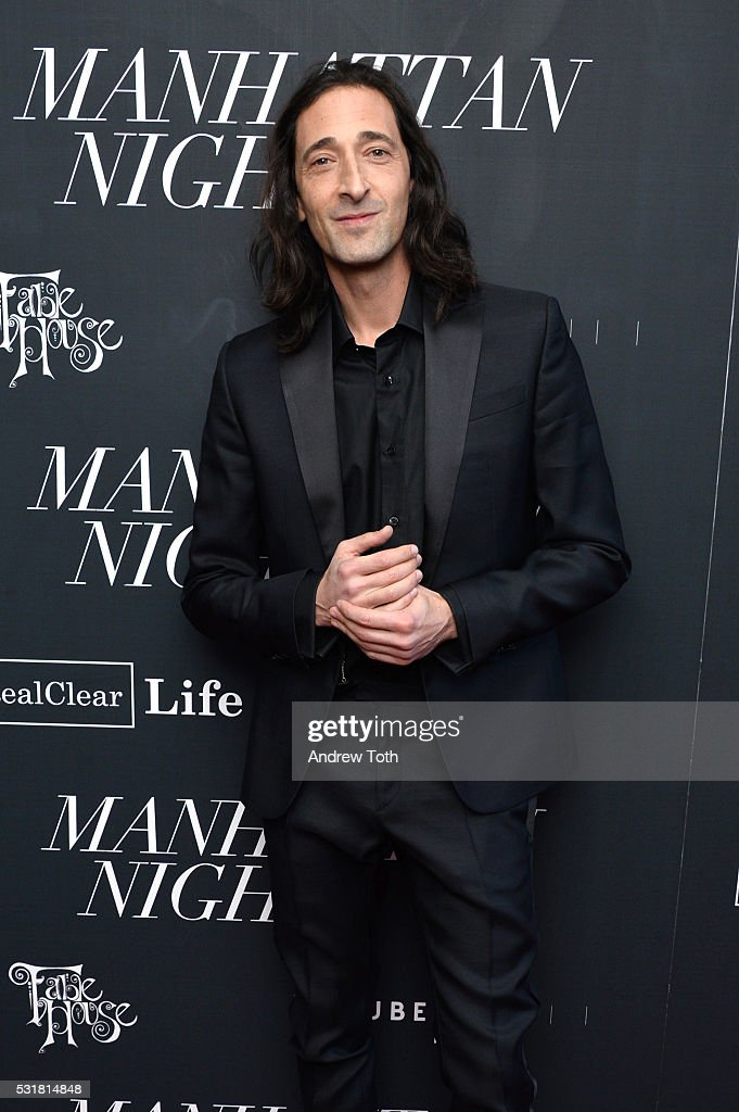 Actor <a gi-track='captionPersonalityLinkClicked' href=/galleries/search?phrase=Adrien+Brody&family=editorial&specificpeople=202175 ng-click='$event.stopPropagation()'>Adrien Brody</a> attends the 'Manhattan Night' New York screening on May 16, 2016 in New York, New York.
