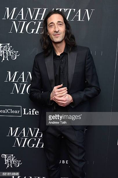 Actor Adrien Brody attends the 'Manhattan Night' New York screening on May 16 2016 in New York New York