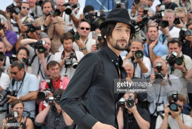 Actor Adrien Brody attends the 'Midnight In Paris' photocall at the Palais des Festivals during the 64th Cannes Film Festival on May 11 2011 in...