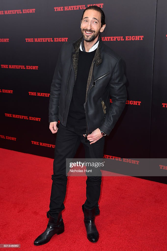 Actor <a gi-track='captionPersonalityLinkClicked' href=/galleries/search?phrase=Adrien+Brody&family=editorial&specificpeople=202175 ng-click='$event.stopPropagation()'>Adrien Brody</a> attends the New York premiere of 'The Hateful Eight' on December 14, 2015 in New York City.