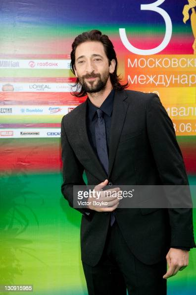 US actor Adrien Brody attends the opening ceremony of 31st Moscow International Film Festival on June 19 2009 in Moscow Russia