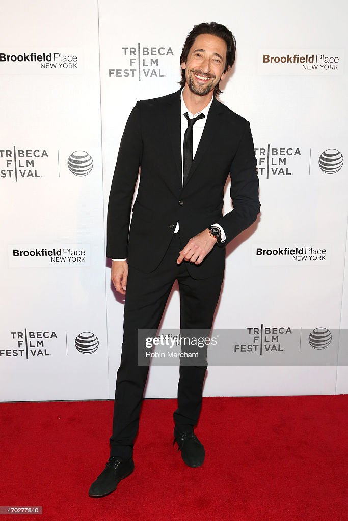 Actor Adrien Brody attends the premiere of 'Backtrack' during the 2015 Tribeca Film Festival at Regal Battery Park 11 on April 18, 2015 in New York City.
