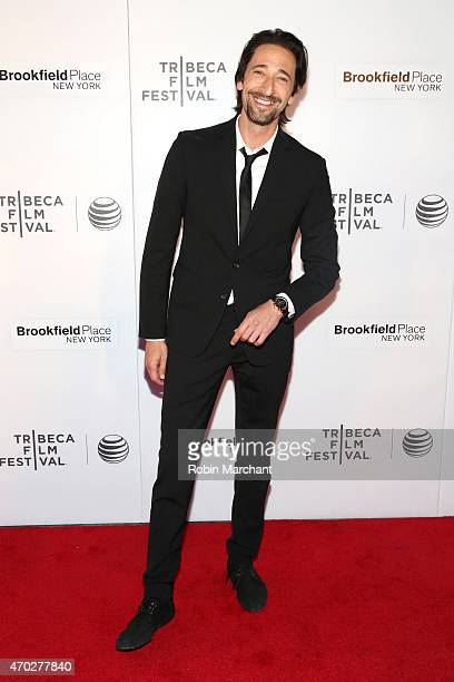Actor Adrien Brody attends the premiere of 'Backtrack' during the 2015 Tribeca Film Festival at Regal Battery Park 11 on April 18 2015 in New York...