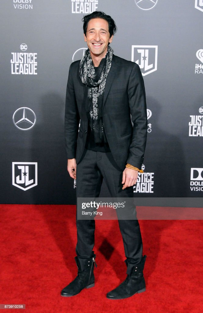 Actor Adrien Brody attends the premiere of Warner Bros. Pictures' 'Justice League' at Dolby Theatre on November 13, 2017 in Hollywood, California.