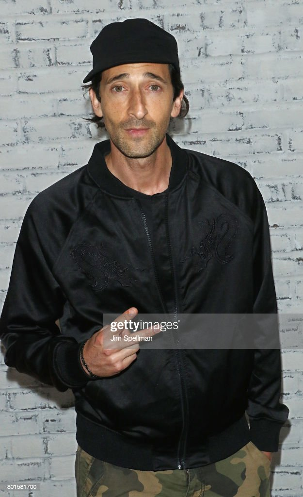 Actor Adrien Brody attends the screening after party for 'Baby Driver' hosted by TriStar Pictures with The Cinema Society and Avion at The Crown on June 26, 2017 in New York City.