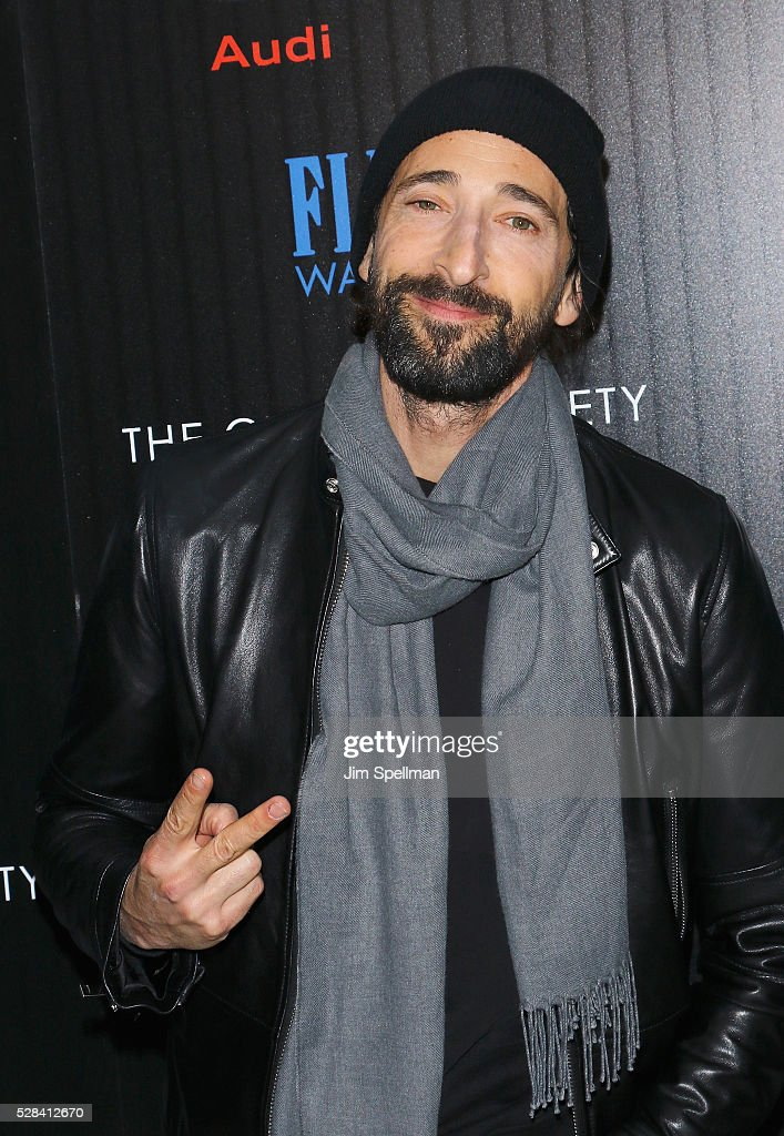 Actor Adrien Brody attends the screening of Marvel's 'Captain America: Civil War' hosted by The Cinema Society with Audi & FIJI at Brookfield Place on May 4, 2016 in New York City.
