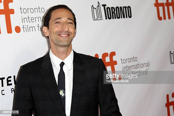 Actor Adrien Brody attends the 'Septembers Of Shiraz' premiere during the 2015 Toronto International Film Festival held at Roy Thomson Hall on...