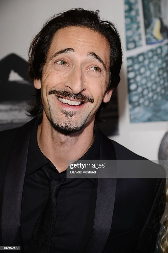 Actor <a gi-track='captionPersonalityLinkClicked' href=/galleries/search?phrase=Adrien+Brody&family=editorial&specificpeople=202175 ng-click='$event.stopPropagation()'>Adrien Brody</a> attends the 'So Chic So Stylish' cocktail party as part of Milan Fashion Week Menswear Autumn/Winter 2013 on January 14, 2013 in Milan, Italy.