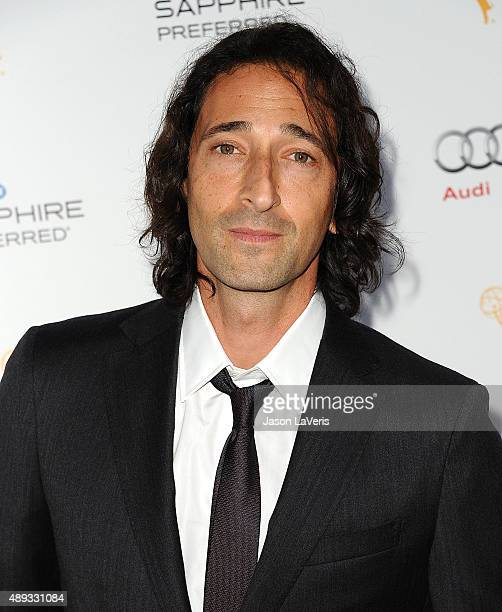 Actor Adrien Brody attends the Television Academy's celebration for the 67th Emmy Award nominees for outstanding performances at Pacific Design...