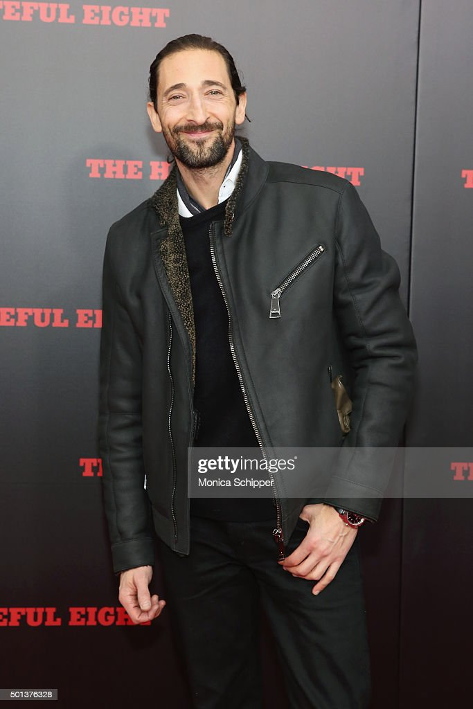 Actor Adrien Brody attends the The New York Premiere Of 'The Hateful Eight' on December 14, 2015 in New York City.