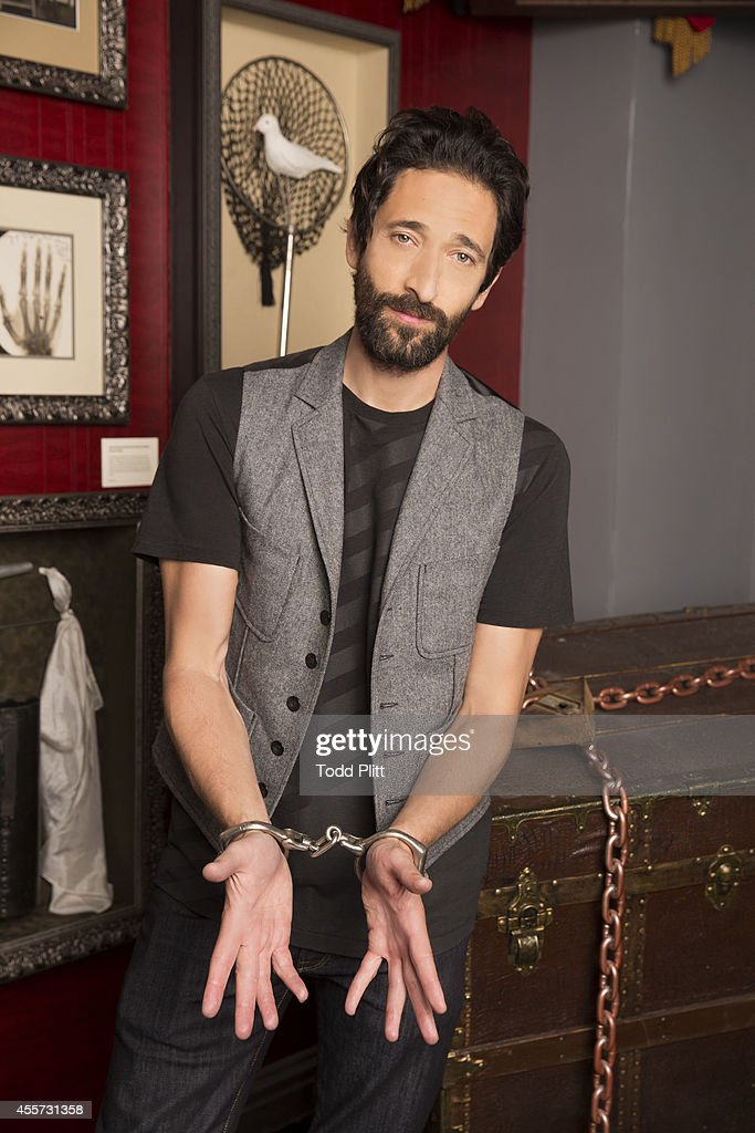Actor <a gi-track='captionPersonalityLinkClicked' href=/galleries/search?phrase=Adrien+Brody&family=editorial&specificpeople=202175 ng-click='$event.stopPropagation()'>Adrien Brody</a> is photographed for USA Today on August 25, 2014 in New York City.