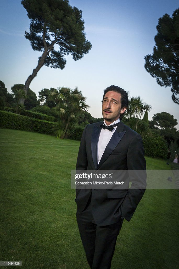 Actor Adrien Brody photographed at the amfAR Cinema Against AIDS gala, for Paris Match on May 24, 2012, in Cap d'Antibes, France.