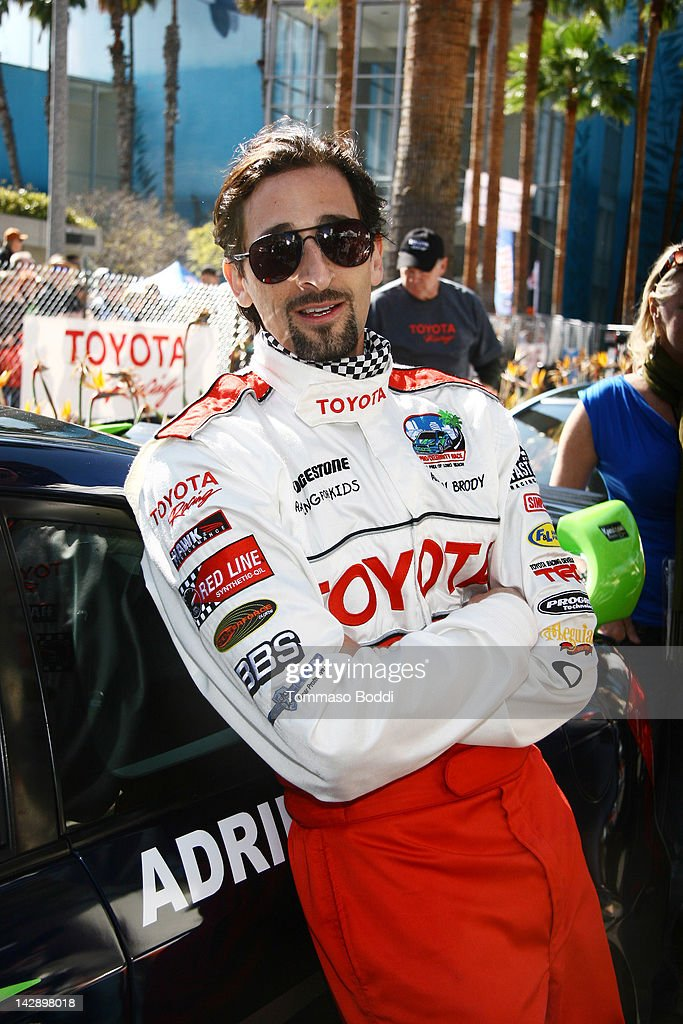 Actor <a gi-track='captionPersonalityLinkClicked' href=/galleries/search?phrase=Adrien+Brody&family=editorial&specificpeople=202175 ng-click='$event.stopPropagation()'>Adrien Brody</a> poses at the 36th Annual 2012 Toyota Pro/Celebrity Race on April 14, 2012 in Long Beach, California.