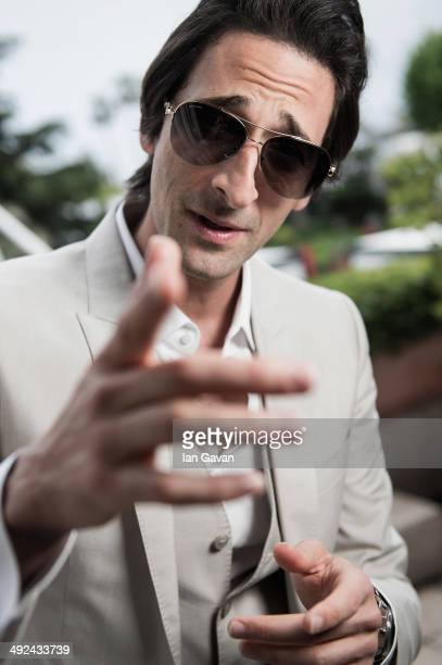 Actor Adrien Brody poses for the 'Emperor' portrait session during the 67th Annual Cannes Film Festival on May 19 2014 in Cannes France