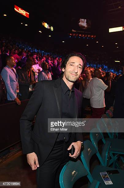 Actor Adrien Brody poses ringside at 'Mayweather VS Pacquiao' presented by SHOWTIME PPV And HBO PPV at MGM Grand Garden Arena on May 2 2015 in Las...
