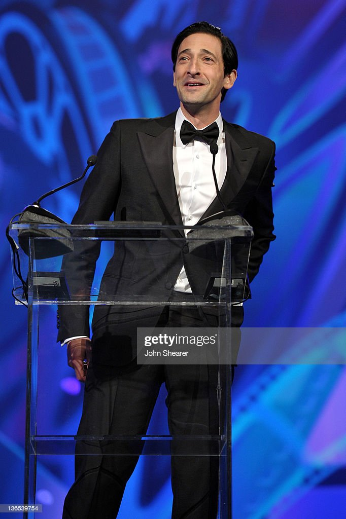 Actor <a gi-track='captionPersonalityLinkClicked' href=/galleries/search?phrase=Adrien+Brody&family=editorial&specificpeople=202175 ng-click='$event.stopPropagation()'>Adrien Brody</a> presents the International Star Award onstage during The 23rd Annual Palm Springs International Film Festival Awards Gala at the Palm Springs Convention Center on January 7, 2012 in Palm Springs, California.